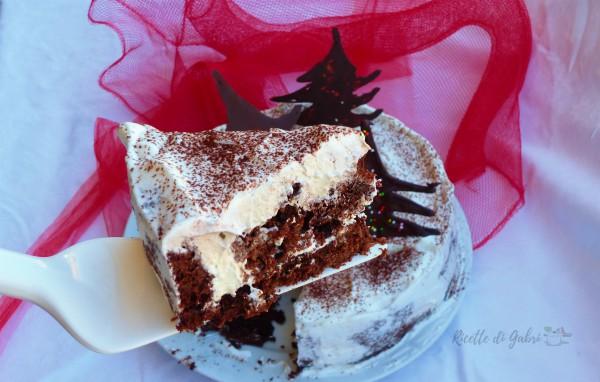 Torta di natale ricetta facile e veloce con panna e cioccolato