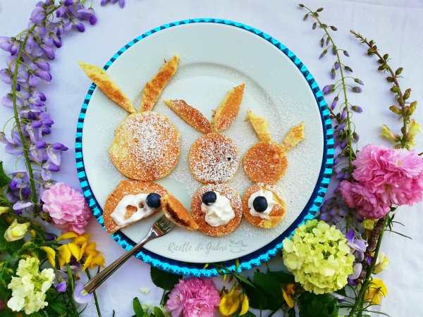 pancakes di pasqua coniglietto ricetta bambini