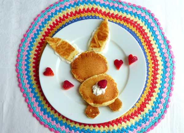 pancakes sofficissimi a forma di coniglietto colazione pasqua idee