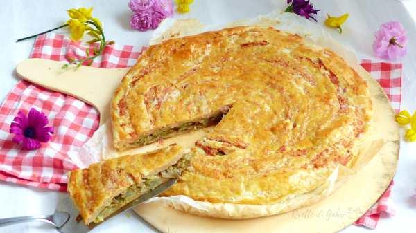 torta di carciofi facile sfiziosa veloce pasta sfoglia
