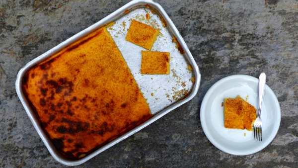 Torta di mais cremosa senza farina -senza glutine