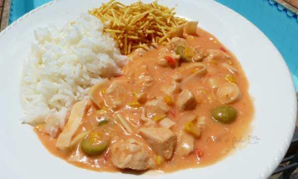 bocconcini di pollo cremoso ricetta facile e veloce strogonoff brasiliano