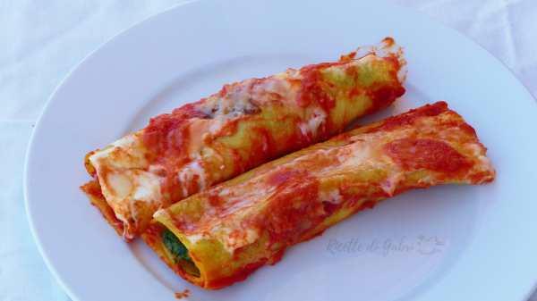 cannelloni spinaci ricotta con sfoglia pronta
