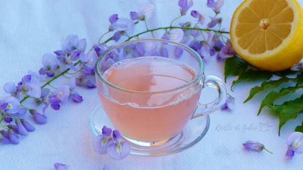 tisana magica fiori di glicini tè che cambia colore