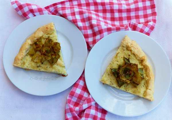 torta carciofi fiori riso scotto riciclare risotto torta salata
