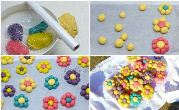biscotti a forma di fiore pasta frolla senza burro