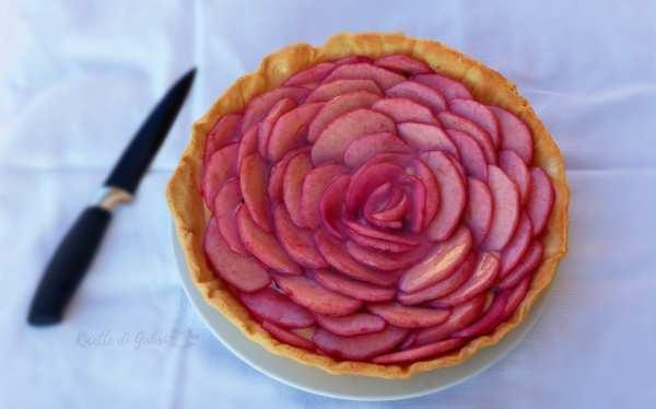 torta crostata rose di mele e crema mele e alchermes