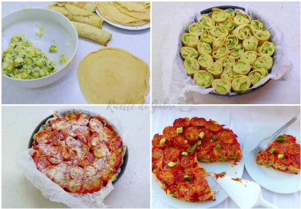 come fare la torta di crepes con zucchine e patate