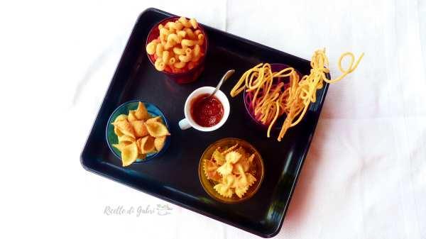 pasta fritta snack sfizioso antipasto facile e veloce, riciclare pasta scotta