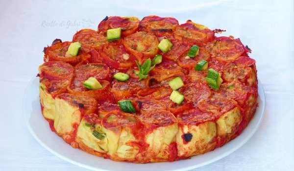 torta salata con zucchine e crepes salate