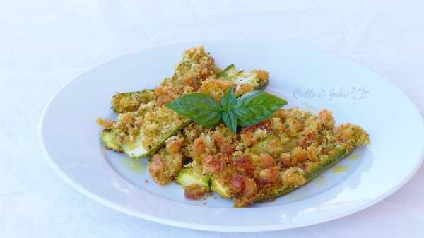 zucchine al forno gratinate con basilico e pane raffermo ricetta facile e veloce