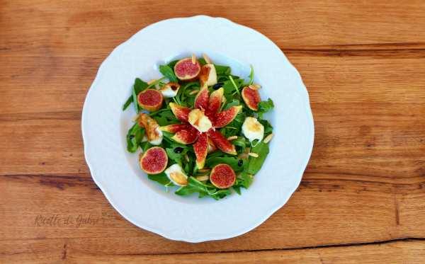 insalata di fichi con rucola primo sale e pinoli
