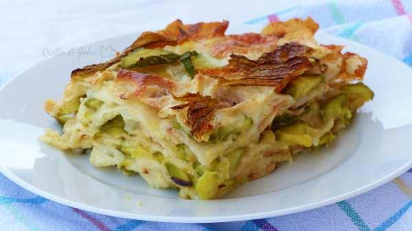 lasagna pane carasau e zucchine ricetta vegetariana facile veloce