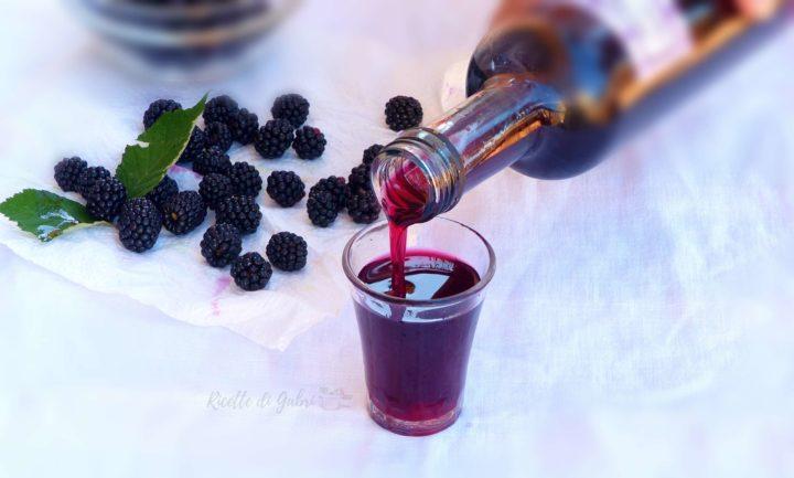 morino liquore di more fatto in casa ricetta facile more di rovo
