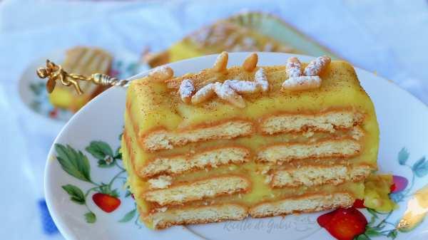 torta della nonna senza cottura facile veloce