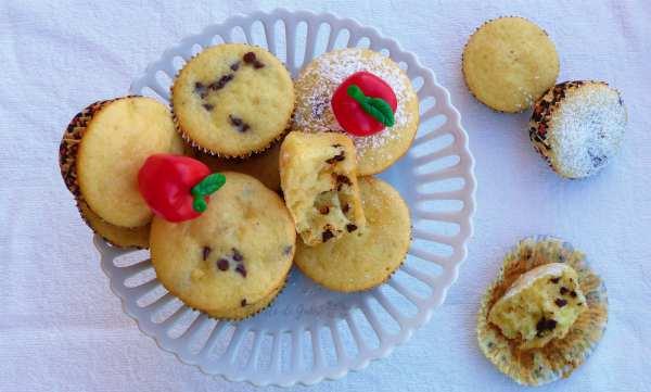 muffins soffici alle mele e cioccolato con solo un uovo e senza burro ricetta facile