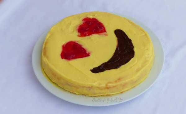 torta per san valentino faccina innamorata emoji love cake ricetta facile gabri