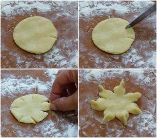 biscotti di pasta frolla a forma di fiore stella senza stampo ricetta facile gabri con corbezzolo fresco