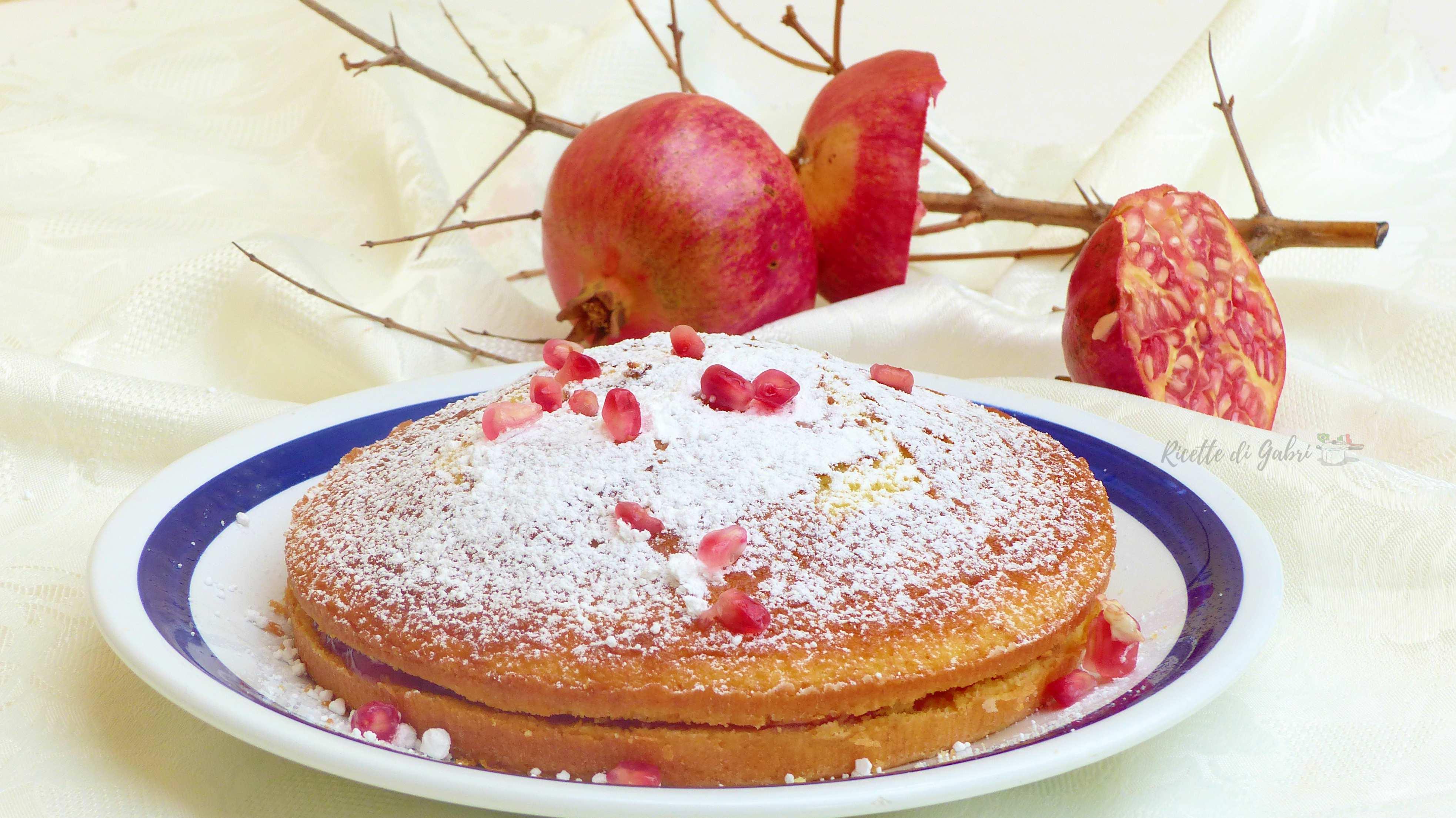 torta soffice con crema al melograno ricetta facile torta 12 cucchiai crema vegana