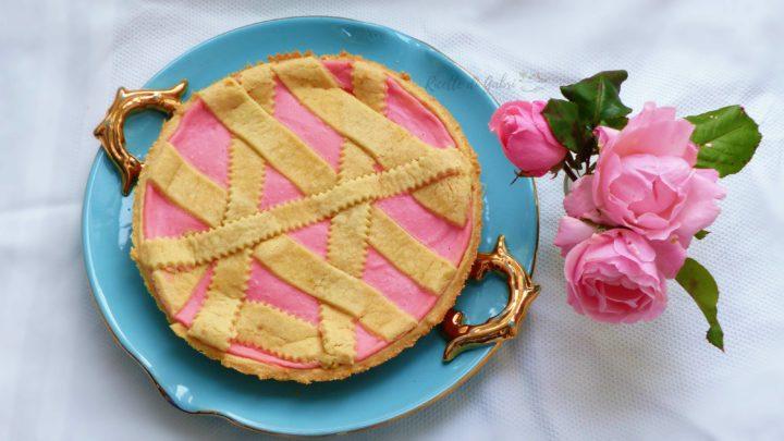 crostata di ricotta e alchermes ricetta facile pasta frolla crema di ricotta rosa ricetta romana di gabri