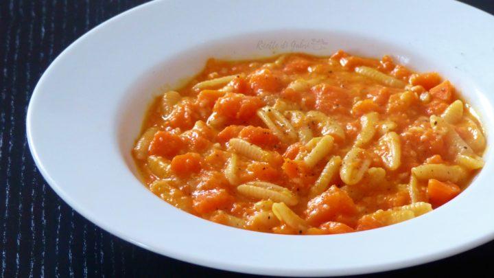 pasta con la zucca cremosa facile gnocchetti sardi ricette di gabri