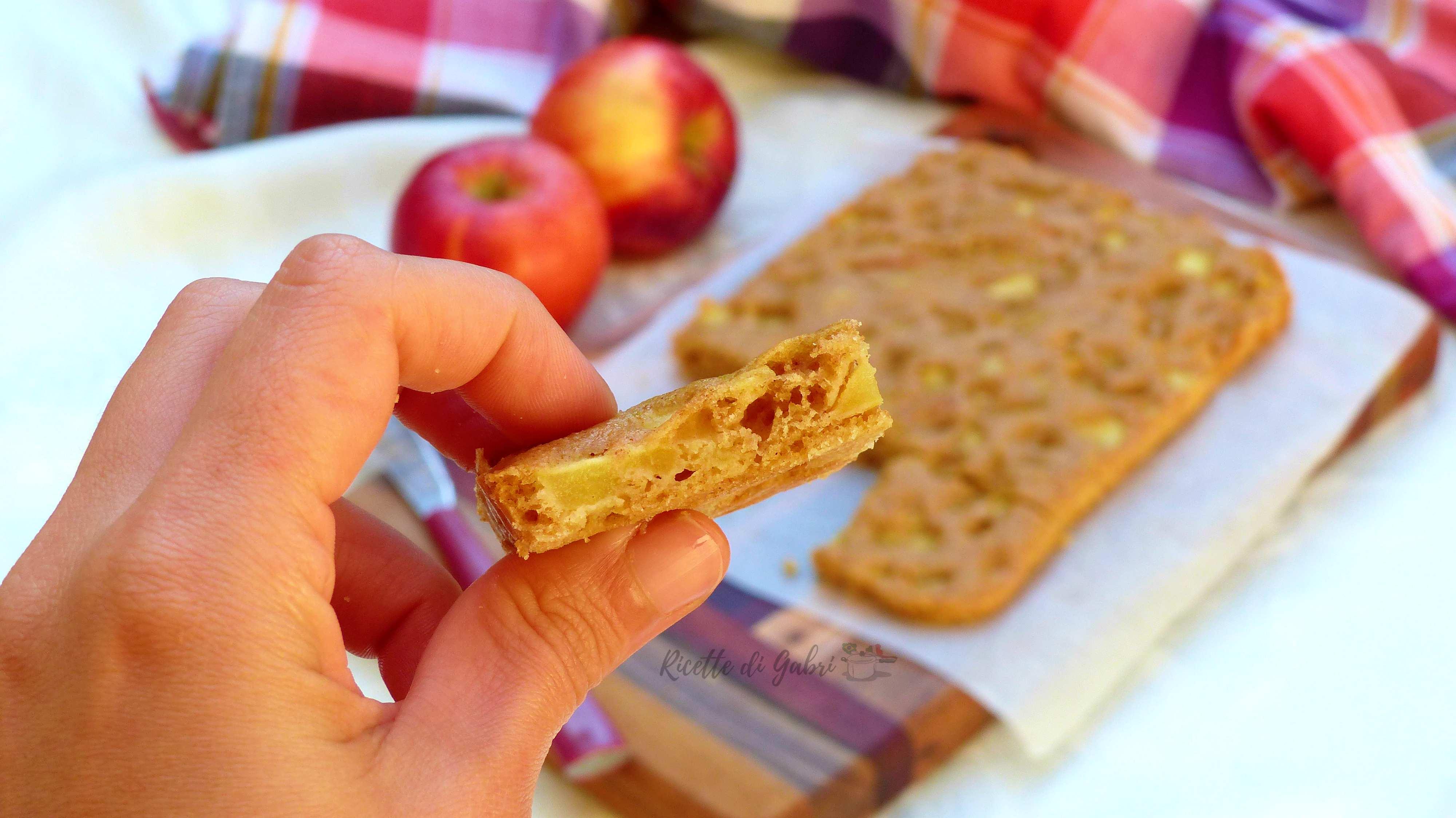ricetta torta di mele semplice melaccio al cucchiaio facile veloce gabri