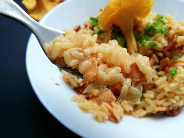 risotto ai funghi finferli galletti cremoso facile veloce ricette di gabri