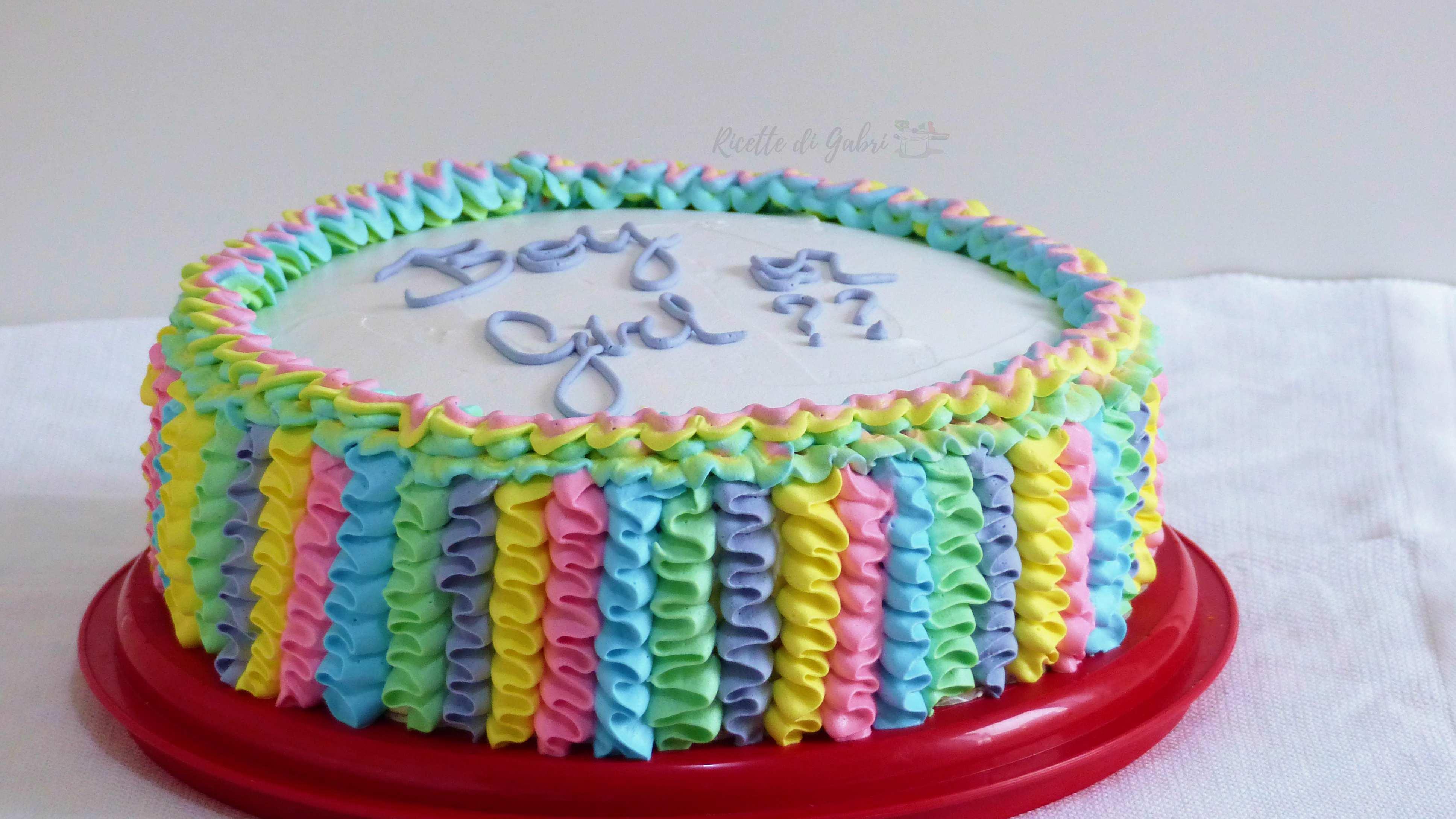 Torta Compleanno Bambini Fatta In Casa.Torta Arcobaleno Ruffle Cake Come Decorare Una Torta Con La Panna