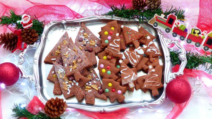biscotti di natale alberelli di pasta frolla senza stampini ricette di gabri facile veloce per bambini