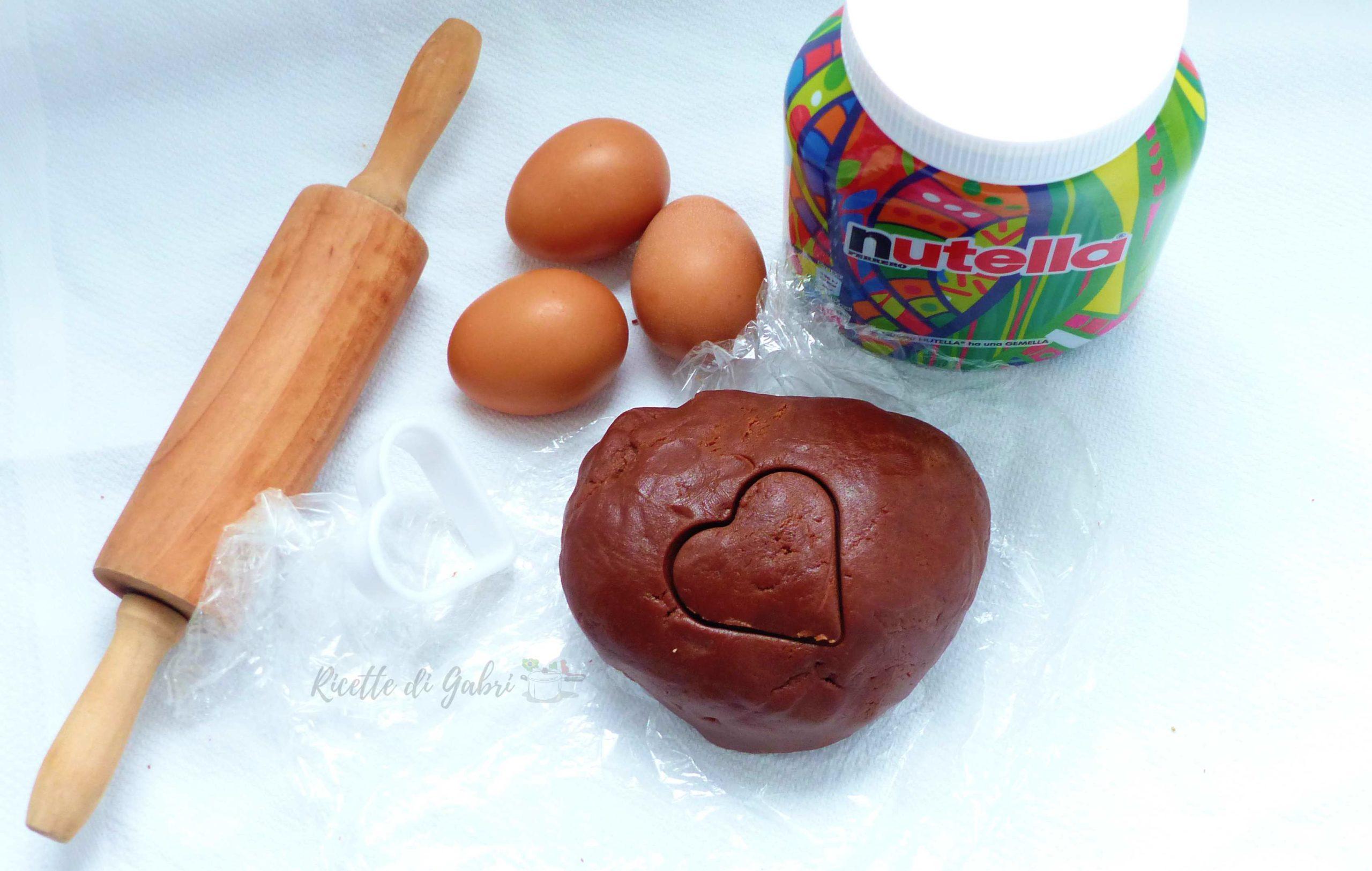 pasta frolla alla nutella senza burro ricetta facile veloce furba ricette di gabri