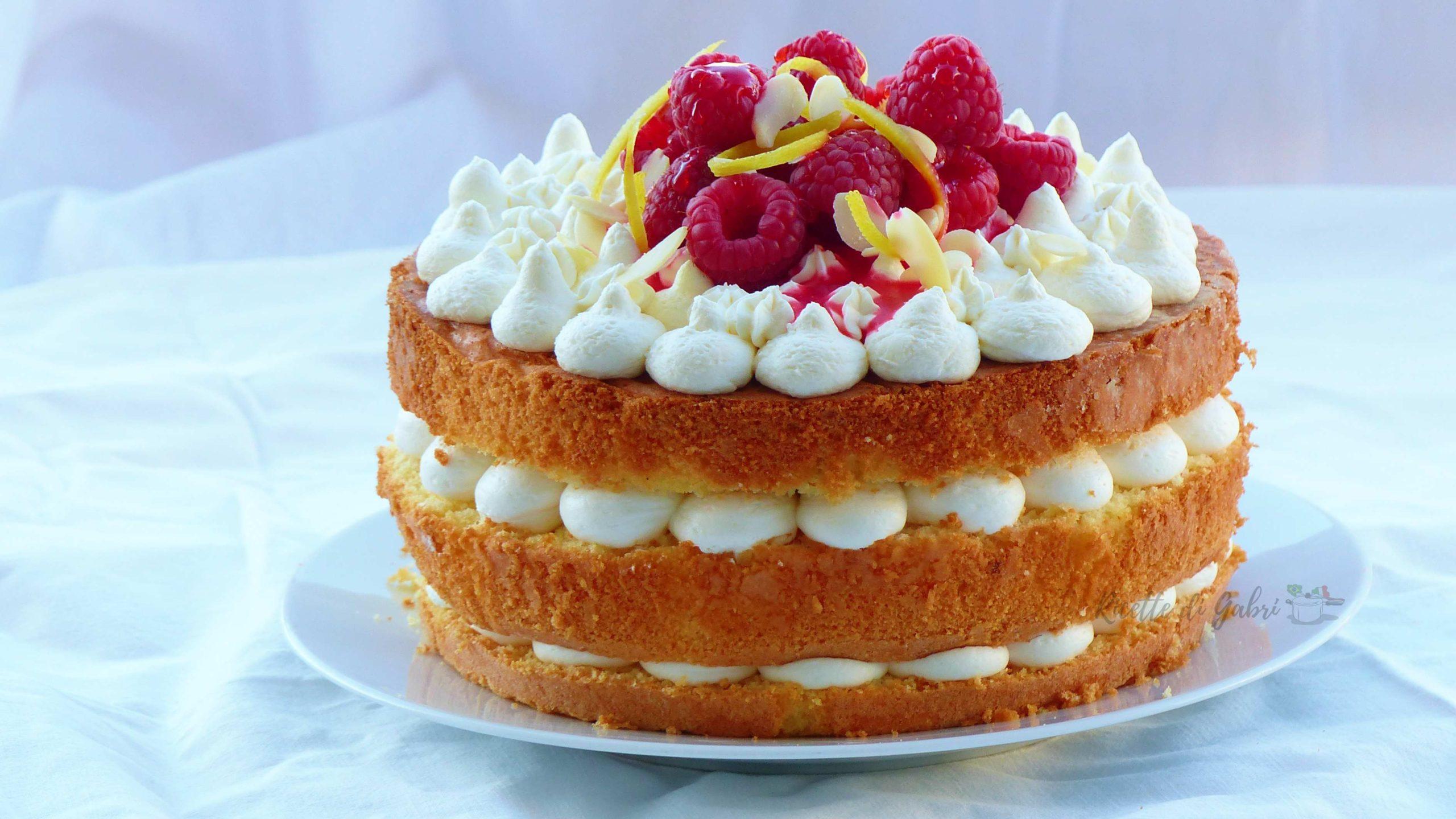 Torte Decorate Per Natale torta alla crema di mascarpone e lamponi