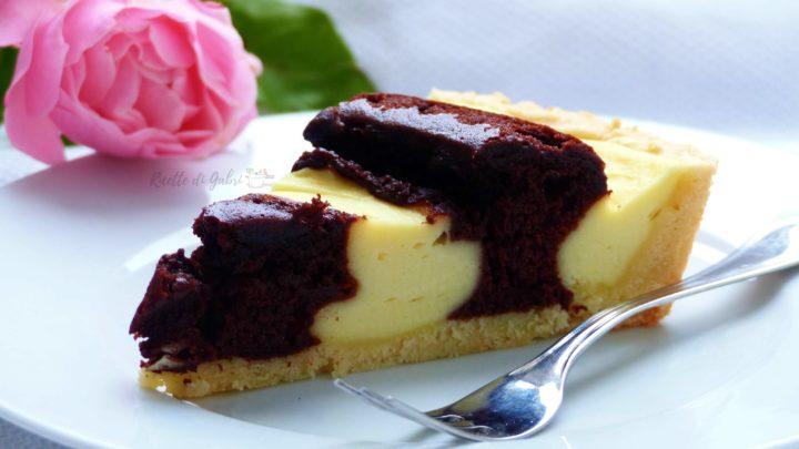 crostata crema di ricotta e cioccolato torta a spirale ricetta di gabri facile veloce