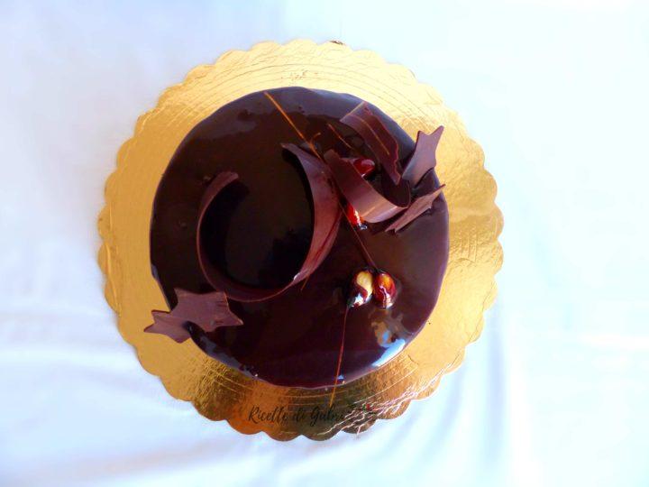 torta dolce di capodanno stellare mousse al cioccolato fondente senza panna ricetta facile knam riciclare albumi mousse alle mandorle gabri