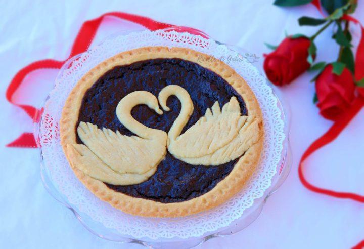 crostata romantica di san valentino con cigni a cuore di pasta frolla ricetta di gabri facile e veloce