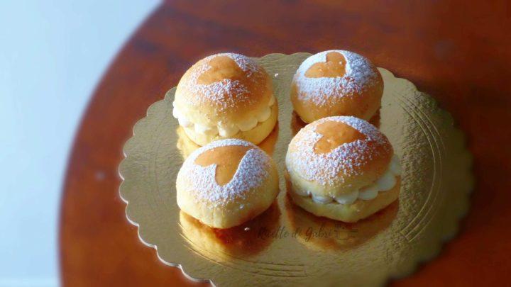 pan brioche soffice ripieno di crema al formaggio fatta in casa da gabri ricetta facile