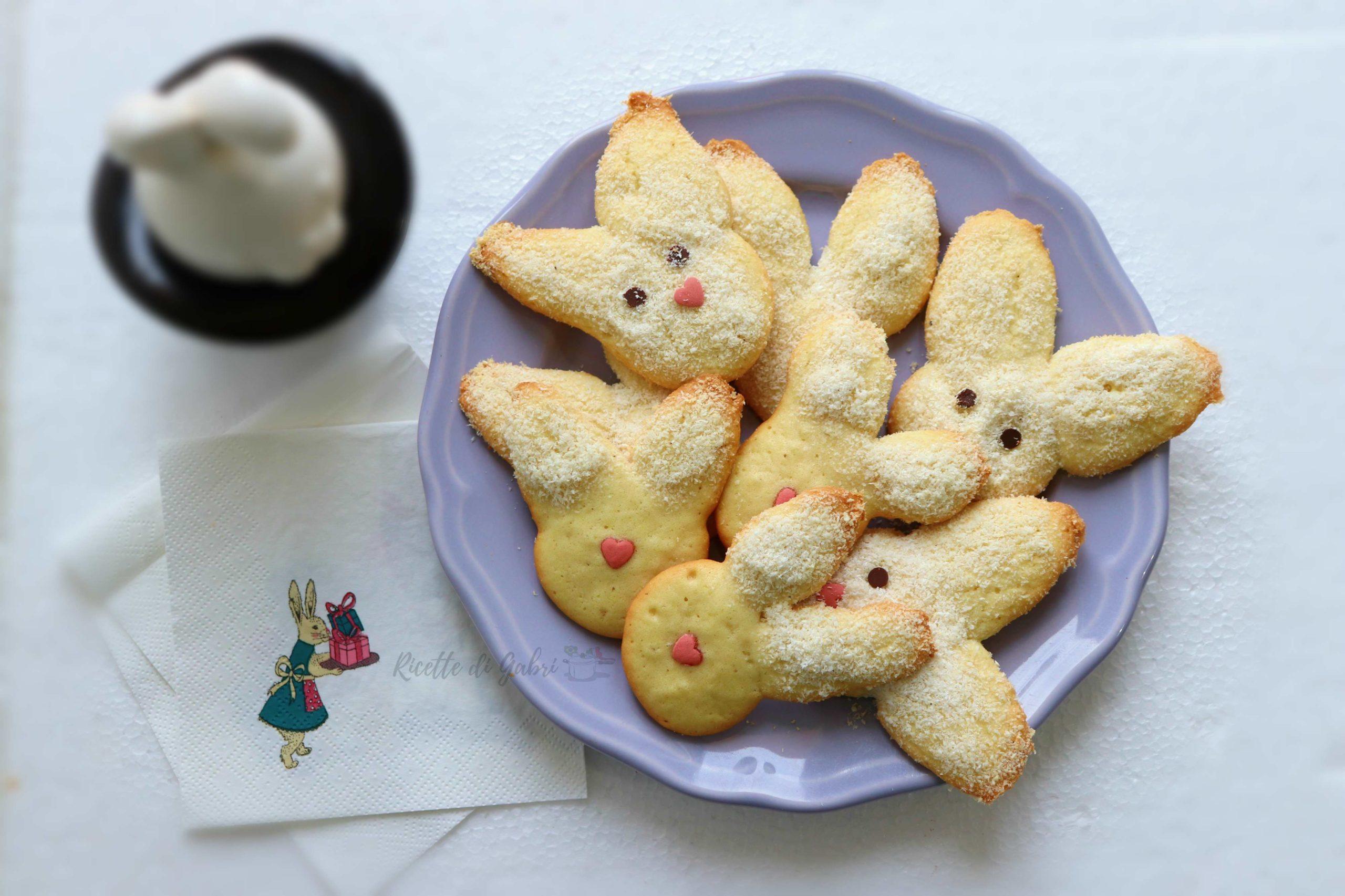 biscotti di pasqua coniglietti di albumi facilissimi ricetta di gabri per pasqua