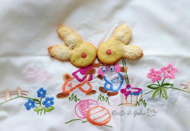 biscotti di pasqua facili e veloci con soli albumi coniglietti ricetta di gabri