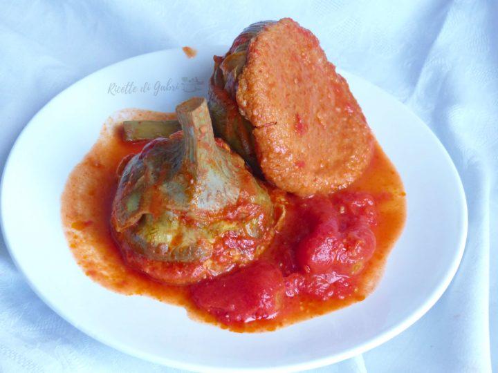 carciofi ripieni di ricotta col tappo imbottiti al pomodoro ricetta facile di gabri