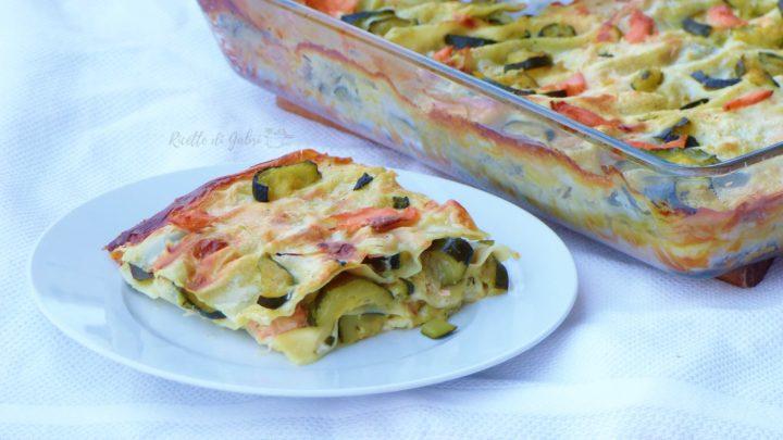 lasagne lasagna con zucchine e salmone pasta al forno della domenica ricetta facile veloce di gabri