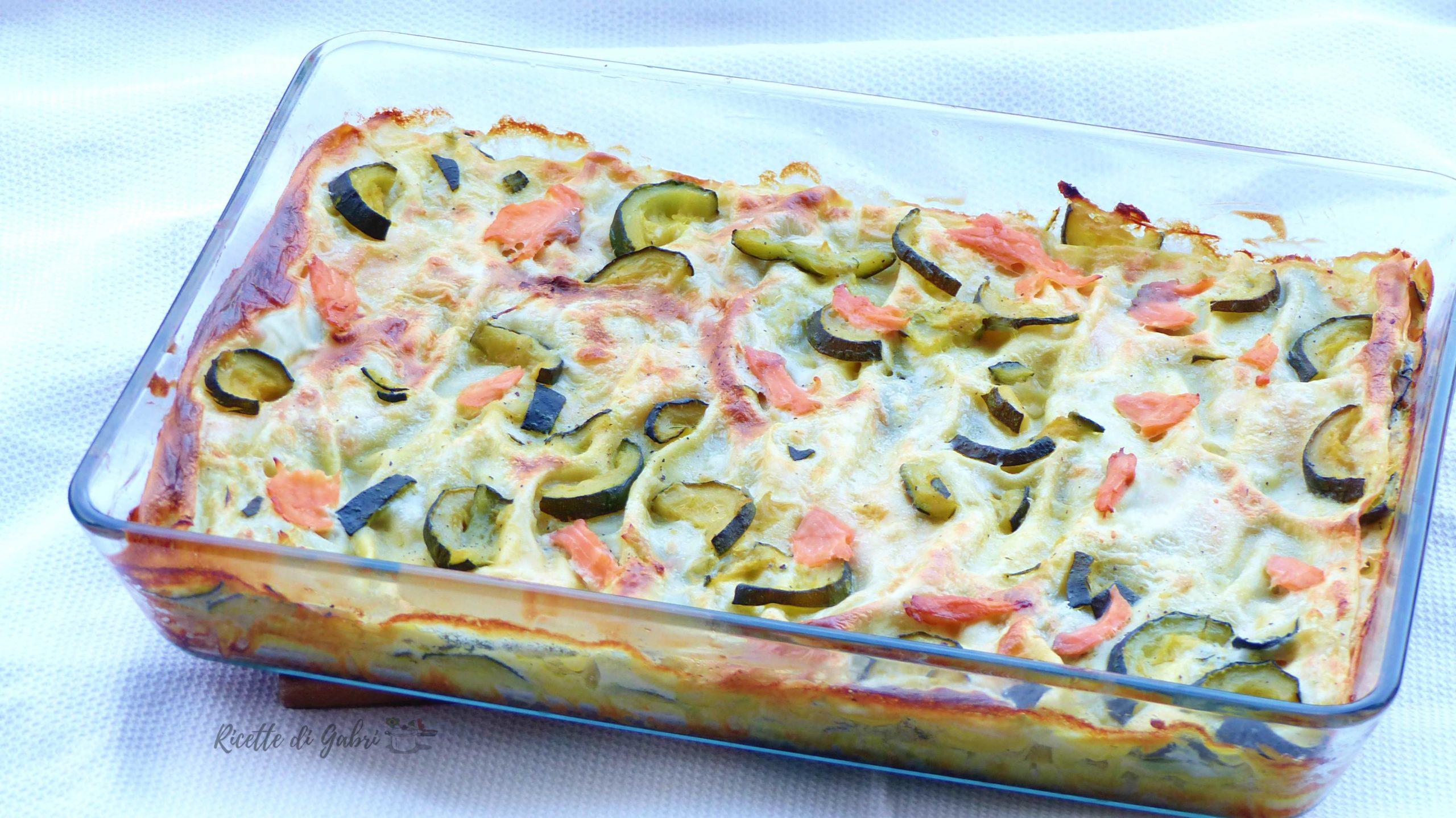 lasagne di zucchine salmone ricetta facile veloce di gabri