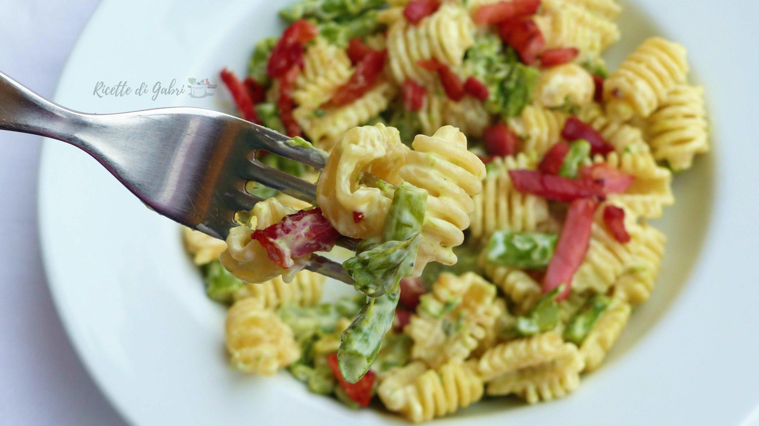 pasta con asparagi pancetta e philadelphia ricetta facile veloce di gabri