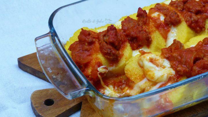 ricetta gnocchi alla romana di polenta con ragù di salsiccia fatto in casa da gabri