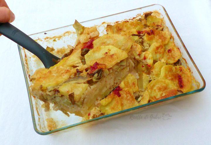 tiella riso patate e carciofi ricetta barese di gabri sformato vegetariano