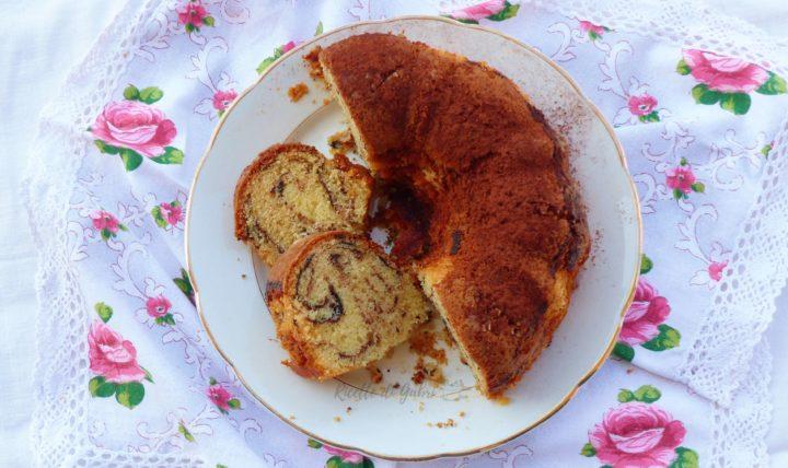 torta ciambellone 5 minuti con amaretto e cioccolato ricetta facile di gabri