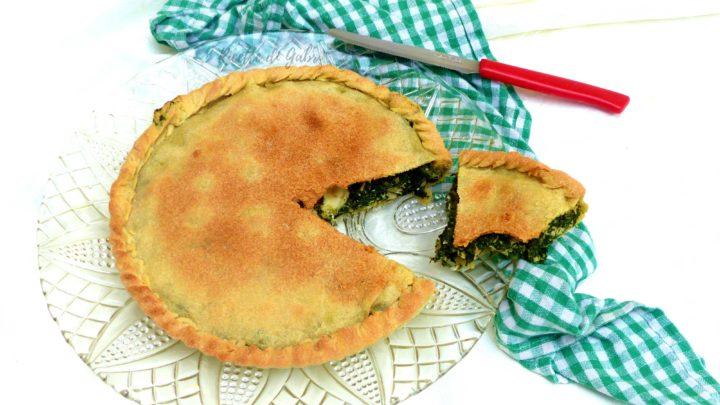 torta salata spinaci pollo svuota frigo ricetta facile senza lievito ne burro