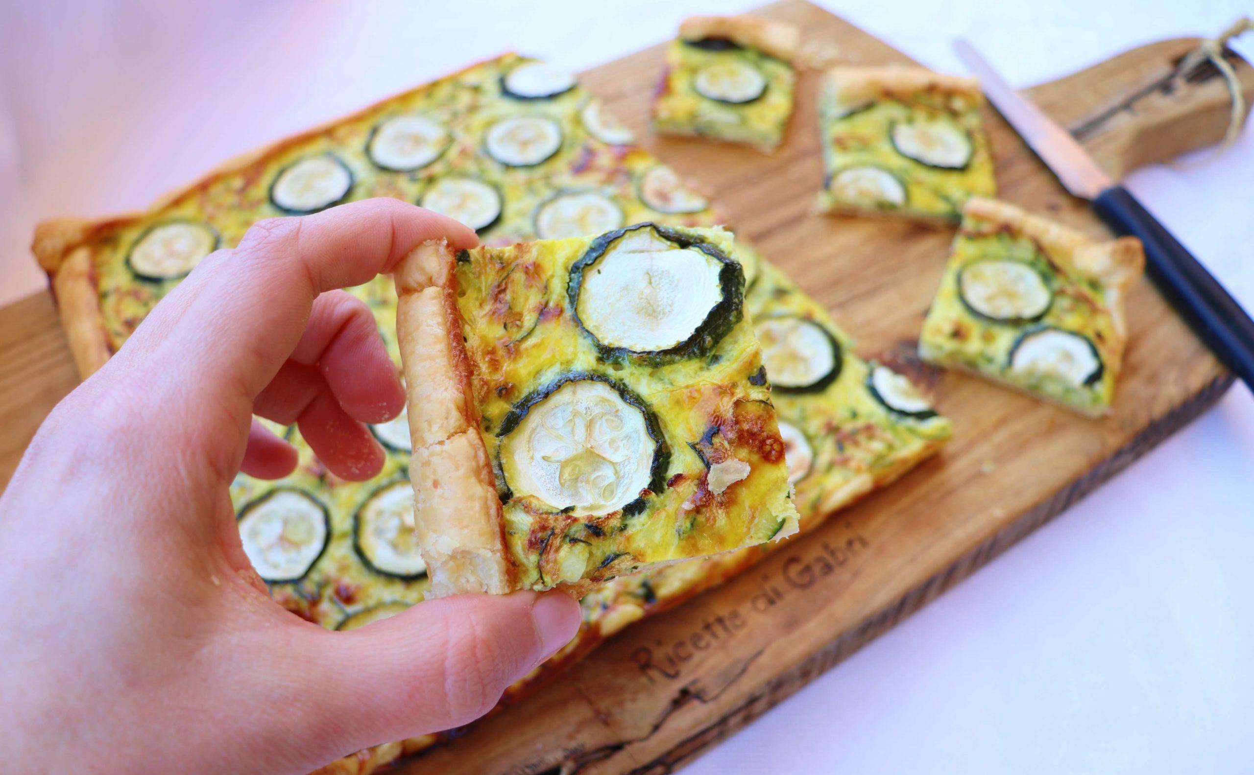 torta salata con zucchine e pecorino ricetta facile veloce di gabri con pasta sfoglia