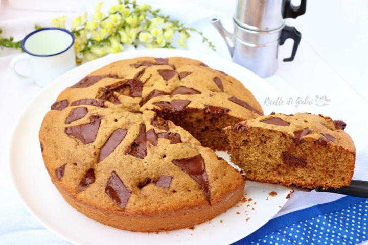 ciambellone torta soffice caffè e cioccolato ricetta facile senza burro