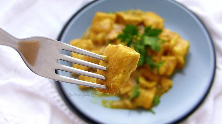 pollo al curry cremoso ricetta facile veloce bocconcini petto pollo tenero gabri