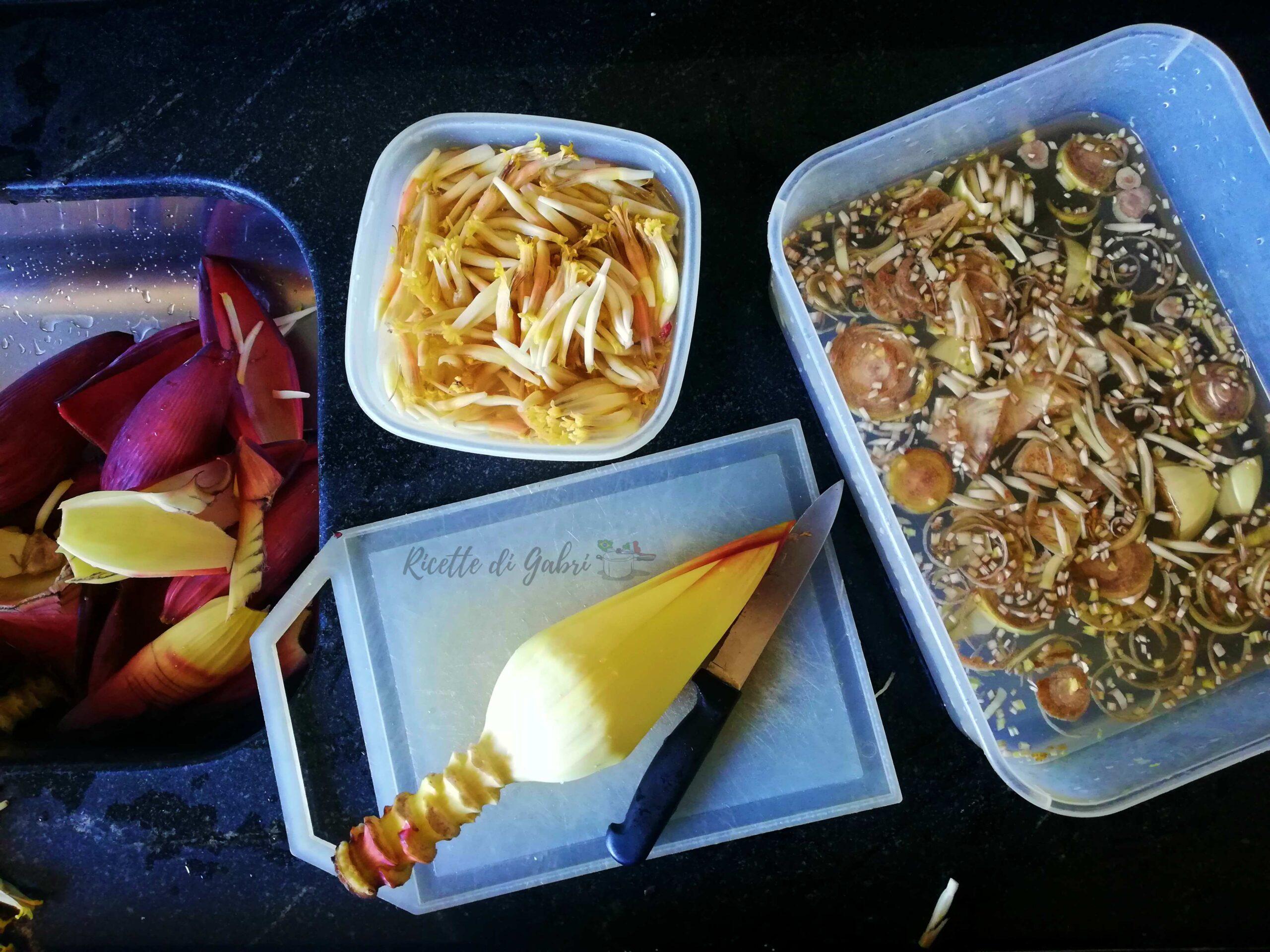 come cucinare cuore di banano ricetta farofa caponata di gabri