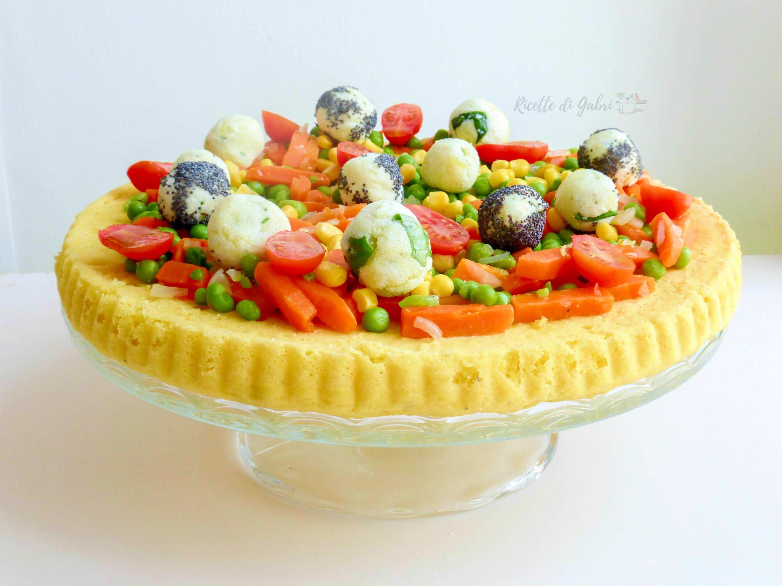 crostata morbida salata facile e veloce torta salata con verdure ricetta di gabri